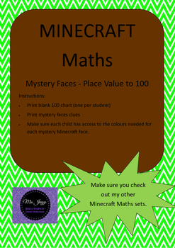 Minecraft Maths - Place Value to 100