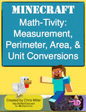 Minecraft Math-Tivity: 4th Grade Measurement, Perimeter, A