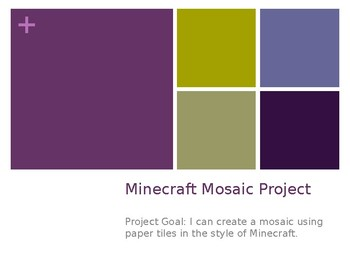 Minecraft Mosaic Art Project
