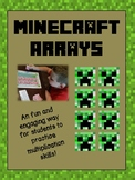 Minecraft Multiplication Arrays