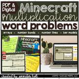 Minecraft Multiplication Word Problems   Google Classroom & PDF