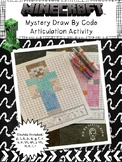 Minecraft Mystery Draw By Code: Speech Therapy Articulatio