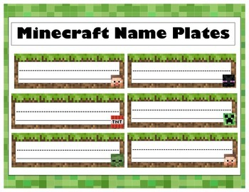 Minecraft Name Plates