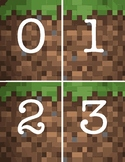 Minecraft Number Flash Cards