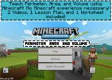 Minecraft Perimeter Area and Volume Video Lesson Bundle