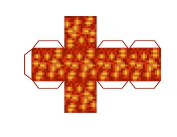 This is an image of Smart Minecraft Printable Blocks