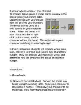 Minecraft: Producing Bread and Restoring Hunger