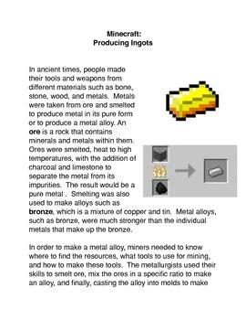 Minecraft:   Producing Ingots