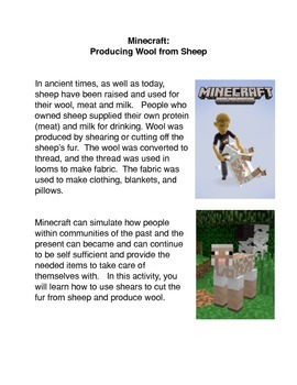 Minecraft: Producing Wool from Sheep