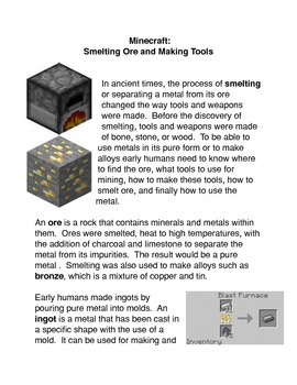 Minecraft: Smelting Ore and Making Tools