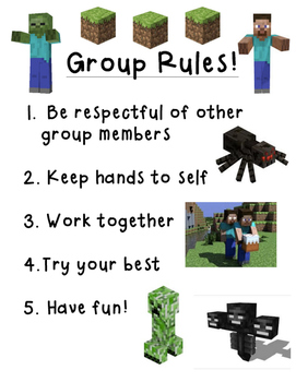 Minecraft Social Skills Group Rules