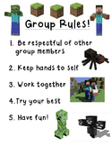 Minecraft Social Skills Group Rules