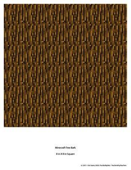 Minecraft Style - Oak Bark