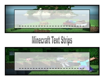 Minecraft Text Strips (6 Different Backgrounds)