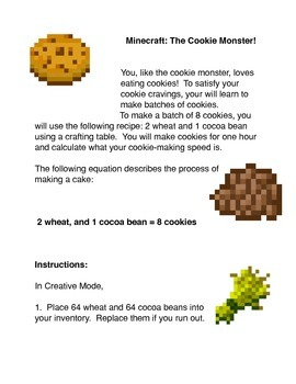 Minecraft:  The Cookie Monster