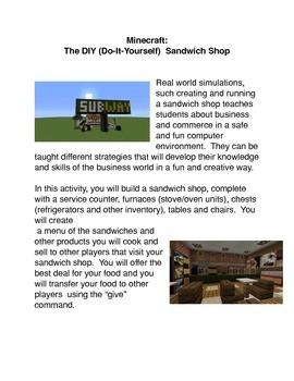 Minecraft:  The DIY Sandwich Shop