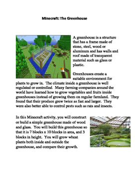 Minecraft:  The Greenhouse