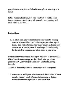 Minecraft; The Solar Crop