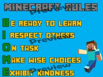 Minecraft Theme Rules