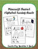 Minecraft Themed Alphabet Tracing Sheets