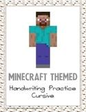 Minecraft Themed Cursive Handwriting
