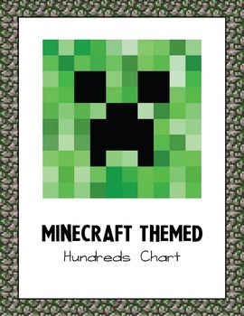 Minecraft Themed Hundreds Chart
