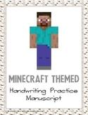 Minecraft Themed Manuscript Handwriting