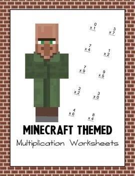 Minecraft Themed Multiplication Worksheets