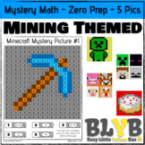 Minecraft Themed Mystery Math Pictures (Number Recognition