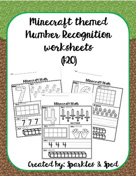 Minecraft Themed Number Recognition (1-20)