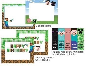 Minecraft Themed Resources Bundle