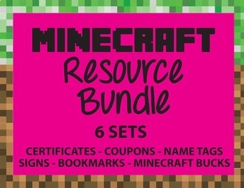Minecraft Themed Resources Bundle