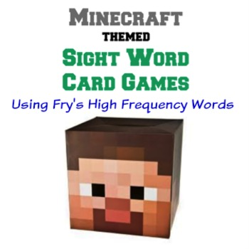 Minecraft Themed Sight Word Card Games - Fry's High Frequency Words