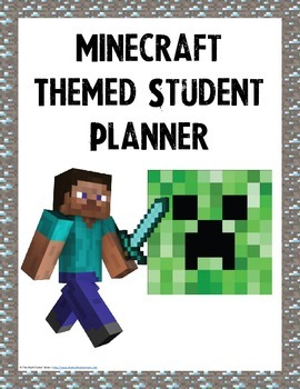 Minecraft Themed Student Planner {Boys Edition}