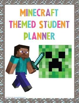Minecraft Themed Student Planner {Girls Edition}