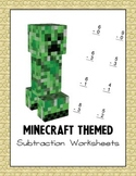 Minecraft Themed Subtraction Worksheets