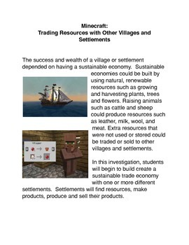 Minecraft: Trading Resources with Other Villages and Settlements Activity