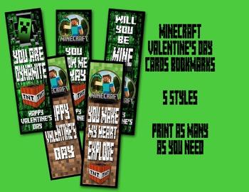 Minecraft - Valentine Bookmark