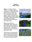 Minecraft: Water Sources