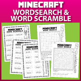 Minecraft Word Search and Word Scramble