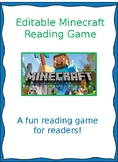 Minecraft- editable reading game