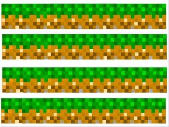 Minecraft Bulletin Board Border (Minecraft Inspired) made with ActiveInspire