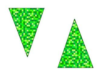 Minecraft inspired pennant