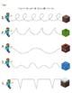 Minecraft pre-writing skills practice