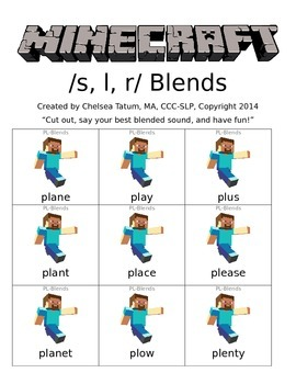 Minecraft /s, r, l/ blends
