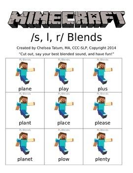 Minecraft /s, r, l/ blends