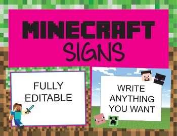 Minecraft signs or stationary