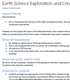 MinecraftEDU Earth Science Exploration: Layers of the Earth
