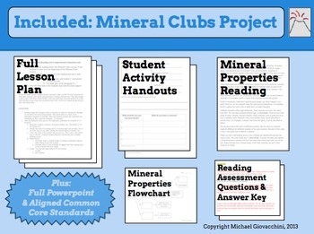 Mineral Clubs Project {Common Core Aligned}