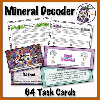 Mineral Decoder Task Card Game